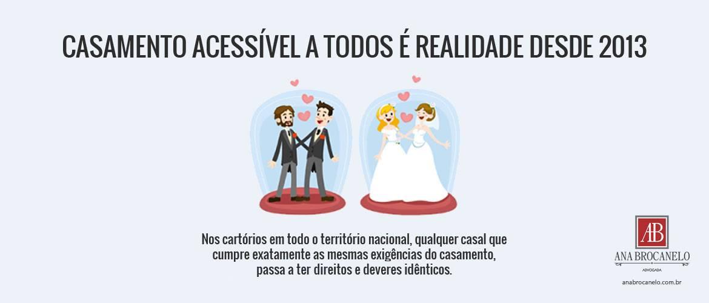 Casamento acessível a todos é realidade desde 2013.