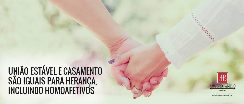 Casamento e União Estável têm o mesmo valor jurídico para herança.