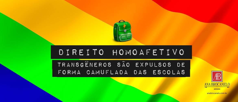 Direito Homoafetivo: transgêneros são expulsos de forma camuflada das escolas.